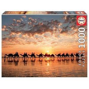 "Educa (18492) - ""Golden sunset on Cable Beach, Australia"" - 1000 piezas"