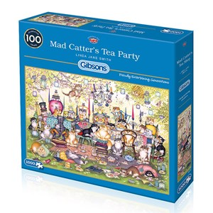 """Gibsons (G6259) - Linda Jane Smith: """"Mad Catter's Tea Party"""" - 1000 piezas"""