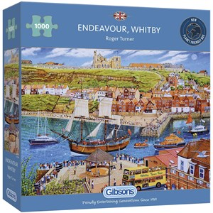 """Gibsons (G6286) - Roger Neil Turner: """"Endeavour Whitby"""" - 1000 piezas"""