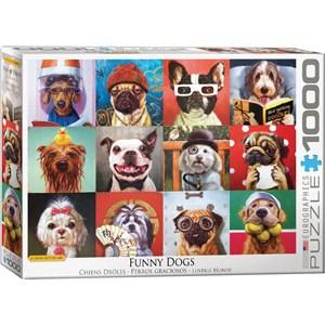 "Eurographics (6000-5523) - Lucia Heffernan: ""Funny Dogs"" - 1000 piezas"