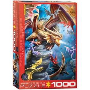 """Eurographics (6000-5475) - Anne Stokes: """"Dragon Clan"""" - 1000 piezas"""