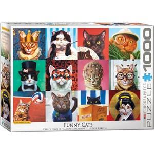 "Eurographics (6000-5522) - Lucia Heffernan: ""Funny Cats"" - 1000 piezas"