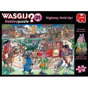 """Jumbo (19180) - """"Wasgij Destiny 21, Highway Hold-up"""" - 1000 piezas"""
