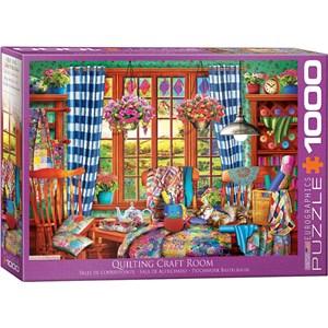 "Eurographics (6000-5348) - ""Patchwork Craft Room"" - 1000 piezas"