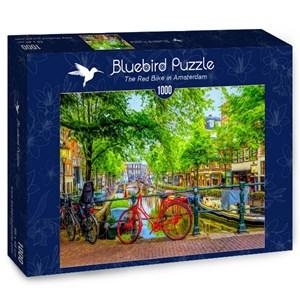 "Bluebird Puzzle (70211) - ""Red Bike in Amsterdam"" - 1000 piezas"