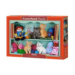 """Castorland (B-53377) - """"Kitten Shelves"""" - 500 piezas"""