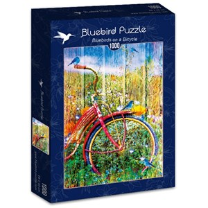 "Bluebird Puzzle (70300) - ""Bluebirds on a Bicycle"" - 1000 piezas"