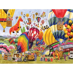 "SunsOut (52406) - Gale Pitt: ""Balloon Landing"" - 1000 piezas"