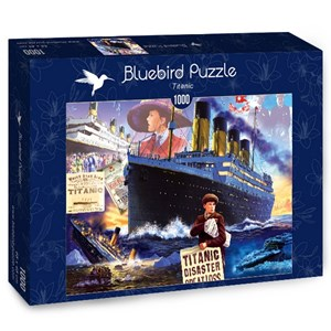 "Bluebird Puzzle (70231) - Steve Crisp: ""Titanic"" - 1000 piezas"