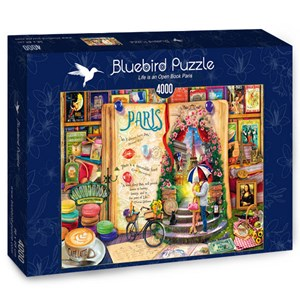 "Bluebird Puzzle (70262) - Aimee Stewart: ""Life is an Open Book Paris"" - 4000 piezas"
