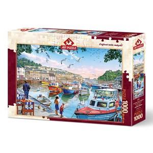"""Art Puzzle (4231) - """"The Little Fishermen at the Harbour"""" - 1000 piezas"""