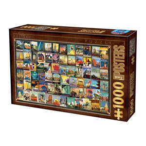 "D-Toys (74621) - ""Travel"" - 1000 piezas"
