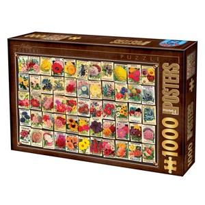 """D-Toys (74492) - """"Flowers"""" - 1000 piezas"""