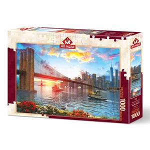 "Art Puzzle (5185) - ""Sunset on New York"" - 1000 piezas"