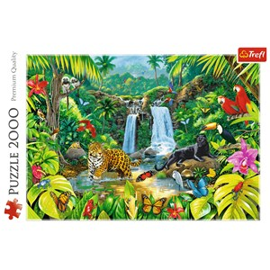 "Trefl (27104) - ""Tropical forest"" - 2000 piezas"