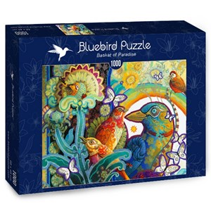 "Bluebird Puzzle (70297) - David Galchutt: ""Basket of Paradise"" - 1000 piezas"