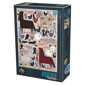 "D-Toys (74348) - Kurti Andrea: ""Farm Animals"" - 500 piezas"