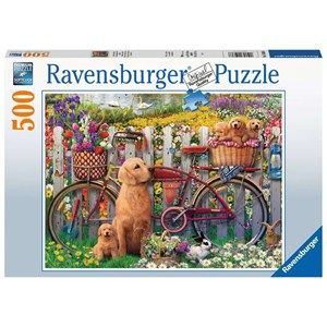 "Ravensburger (15036) - ""Cute dogs in the garden"" - 500 piezas"