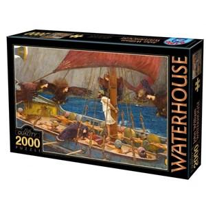 "D-Toys (72917-WA01) - John William Waterhouse: ""Ulysses and the Sirens, 1891"" - 2000 piezas"