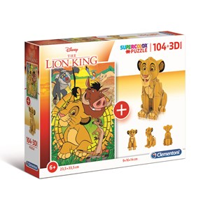 "Clementoni (20158) - ""Disney Lion King"" - 104 piezas"