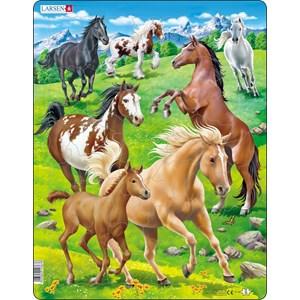"Larsen (FH38) - ""Horses in a Mountain Field"" - 65 piezas"