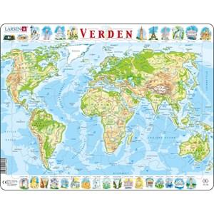 "Larsen (K4-DK) - ""The World Physical Map - DK"" - 80 piezas"