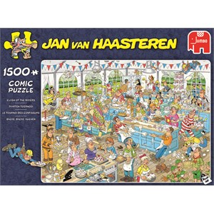 """Jumbo (19077) - Jan van Haasteren: """"Clash of the Bakers"""" - 1500 piezas"""