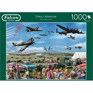 """Falcon (11195) - Marcello Corti: """"Family Airshow"""" - 1000 piezas"""