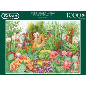 "Falcon (11254) - Anne Searle: ""The Flower Show, Desert Plants"" - 1000 piezas"