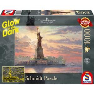 """Schmidt Spiele (59498) - Thomas Kinkade: """"Statue of Liberty"""" - 1000 piezas"""