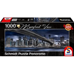 "Schmidt Spiele (59621) - Manfred Voss: ""New York, Dark Night"" - 1000 piezas"