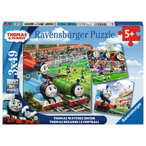 "Ravensburger (08037) - ""Thomas Watches Soccer"" - 49 piezas"