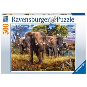 """Ravensburger (15040) - """"Elephants"""" - 500 piezas"""