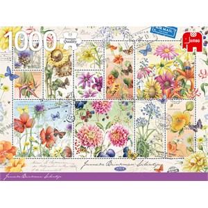 """Jumbo (18812) - Janneke Brinkman: """"Flower Stamps Summer"""" - 1000 piezas"""