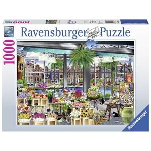 """Ravensburger (13987) - """"Amsterdam Flower Market"""" - 1000 piezas"""