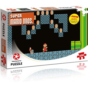 "Winning Moves Games (WIN11491) - ""Super Mario Bros., Underground Adventures"" - 500 piezas"