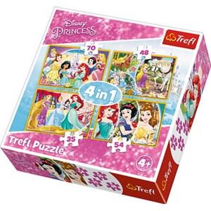 "Trefl (34309) - ""Happy Day of Princesses"" - 35 48 54 70 piezas"