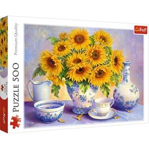 "Trefl (37293) - Hardwick Trisha: ""Sunflowers"" - 500 piezas"
