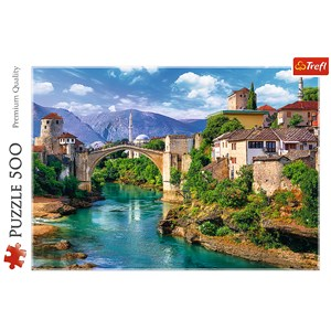 "Trefl (37333) - ""Old Bridge in Mostar, Bosnia and Herzegovina"" - 500 piezas"