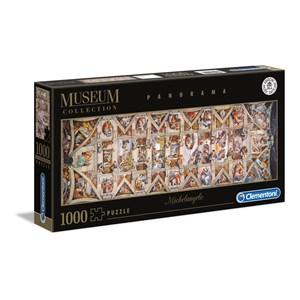 "Clementoni (39498) - Michelangelo: ""Vatican, Sistina Hat Panorama"" - 1000 piezas"