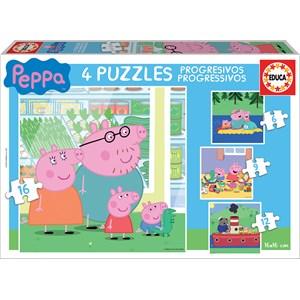 "Educa (15918) - ""Peppa Pig"" - 6 9 12 16 piezas"