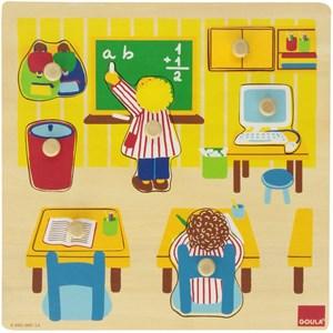 "Goula (53035) - ""School Wooden Peg"" - 7 piezas"