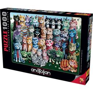 """Anatolian (1030) - Laura Seeley: """"Cat Family Reunion"""" - 1000 piezas"""