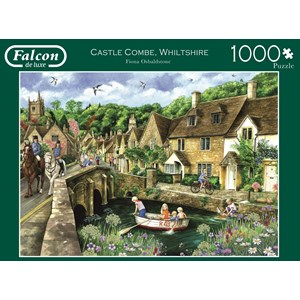 """Falcon (11233) - Fiona Osbaldstone: """"Castle Combe, Wiltshire"""" - 1000 piezas"""