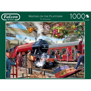 "Falcon (11250) - Victor McLindon: ""Waiting on the Platform"" - 1000 piezas"