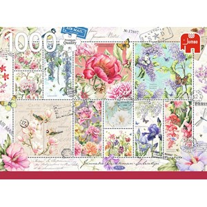 """Jumbo (18597) - """"Flower Stamps"""" - 1000 piezas"""