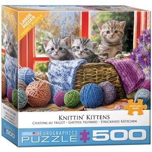 """Eurographics (8500-5500) - """"Knittin' Kittens"""" - 500 piezas"""