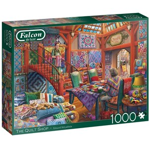 "Falcon (11285) - Eduard Shlyakhtin: ""The Quilt Shop"" - 1000 piezas"