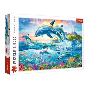 """Trefl (26162) - """"Dolphin Family"""" - 1500 piezas"""