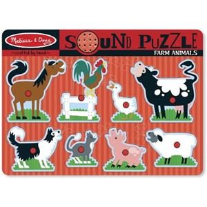 "Melissa and Doug (10726) - ""Farm Animals, Sound Puzzle"" - 8 piezas"